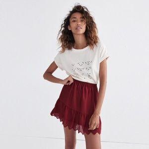 MADEWELL Duskway Eyelet Mini Skirt Sz MED